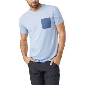 tentree Micro Boulder Pocket T-Shirt Men Delft Blue Micro Stripe